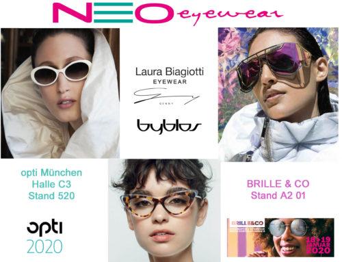 LAURA BIAGIOTTI, GENNY und BYBLOS auf der Opti München und Brille&CO 2020